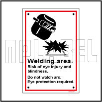 591783 Welding Area Signage Name Plate