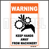 591785 Keep Hands Away Warning Sticker & Labels