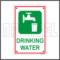 592098 Sign Sticker - Drinking Water