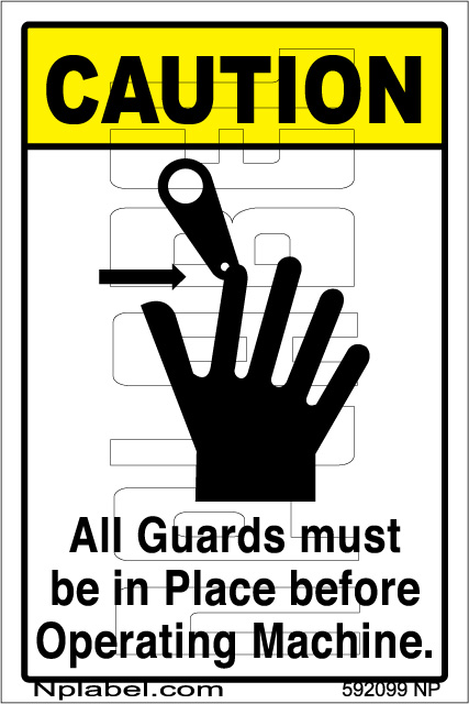 592099 All Guards Must be in Place Instructions