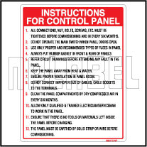 592172 Instruction Sticker Label For Control Panel