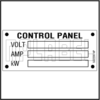 592200DL Control Panel Detail Labels