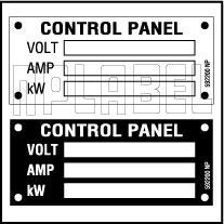 592200 Control Panel Detail Labels