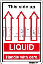592332 Liquid Shipping Stickers & Labels