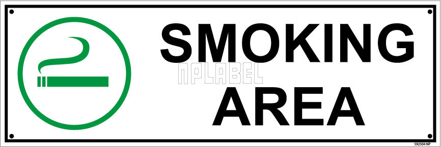 592504 Smoking Area Sign Name Plate