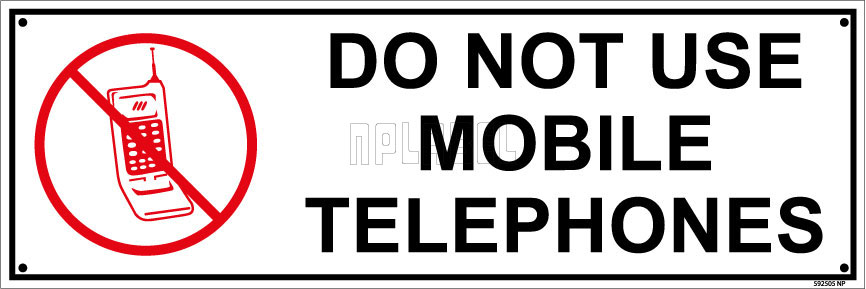 592505 Do Not Use Mobile Telephones Sticker