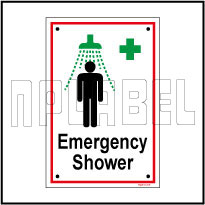 592514 Emergency Shower Name Plates & Signage