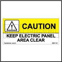 592517 Keep Electric Panel Area Stickers