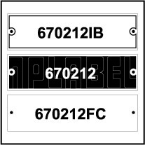 670212 - Control Panel Labels Size 90 x 25mm