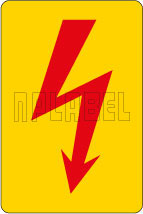 820142 Electrical Mains Sign Stickers & Labels