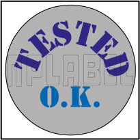 820178 Tested O.K. Round Sticker
