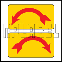 820289-90 - Left - Right Direction Sticker