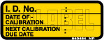 840484 Calibration Detail Sticker