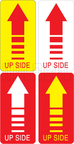 910133 Up Side Shipping Sticker