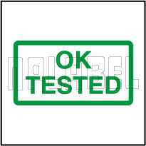 910599 Quality Control - Tested Ok Sticker