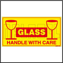 920010 Glass - Handle With Care Shipping Sticker