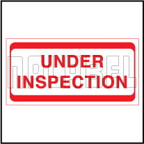 920431 Quality Control Sticker - Under Inspection