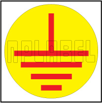 940007 Earthing Round Sticker