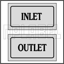 940132 Inlet / Outlet Stikcers
