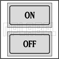 940133 On - Off Control Panel Sticker