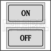 940133 On - Off Control Panel Sticker