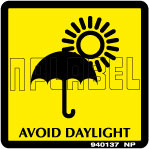 940137 Avoid Daylight Signs Stickers & Labels