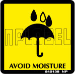 940138 Avoid Moisture Signs Stickers & Labels