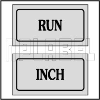 940162 Run Inch Control Panel Sticker