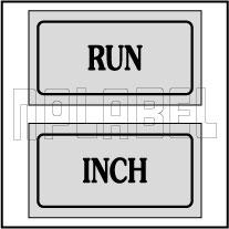 940162 Run Inch Control Panel Sticker