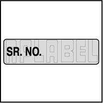 940564 Blank Sr. No. Sticker