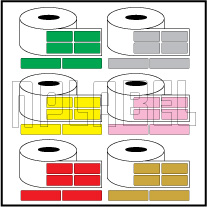 Color Barcode Labels - Across 2 Labels
