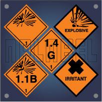 Class 1 - Explosive Labels