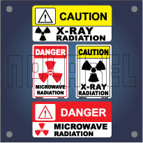Caution and Warning Labels for X-ray / Microwave Radiation