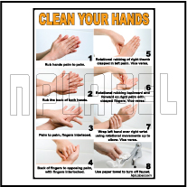 CD1910 COVID19 Instructions for Clean Hands Signages
