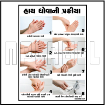 CD1916 COVID19 Instructions for Clean Hands Signages