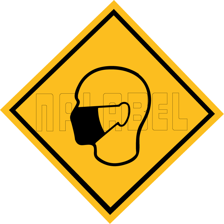 CD1936  COVID19 Wear Mask Signages