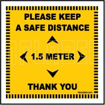 CD1966 Keep 1.5 Meter Distance Floor Sticker