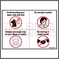 CD1973 Coronavirus Etiquette Signages