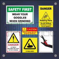 Caution Labels & Safety Signs for Machinery