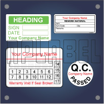 Create your OWN Quality Control Labels