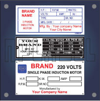 Customize Labels & Sticker for Induction Motors