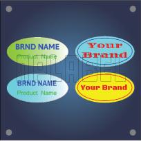 Oval Shape PU Coating - Dome Stickers