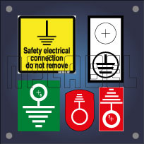 Electrical Grounding & Earthing Labels