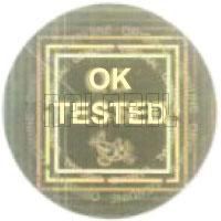 HG0015 OK Tested - QC Passed Hologram Sticker