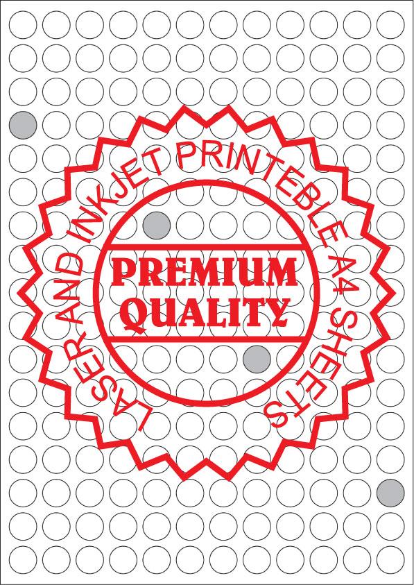 IL14204R Multipurpose A4 Sheets - Round Sticker