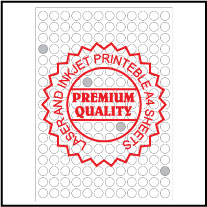 IL14204R Multipurpose A4 Sheets - Round Sticker
