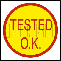 K20011 Tested O.K. Round Sticker