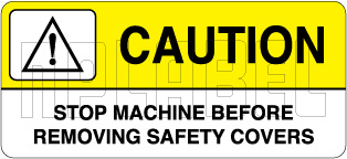 K21083 Caution Sticker - Removing Safety Covers