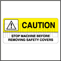 K21083ML Caution Metal Label - Removing Safety Covers