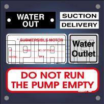 Labels & Stickers for Pump & Motors